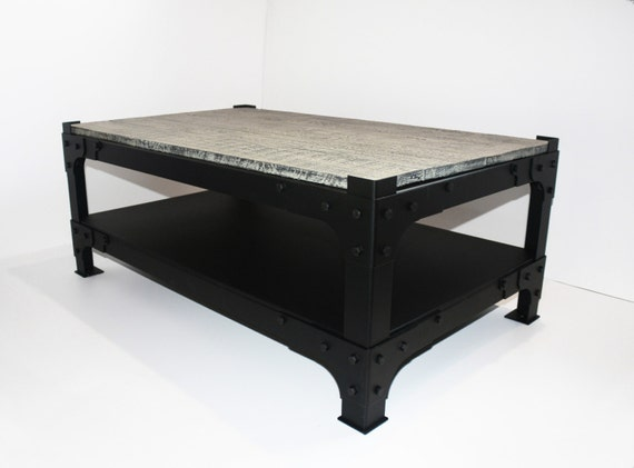 Industrial Vintage Rustic Coffee Table By RiCoffee On Etsy
