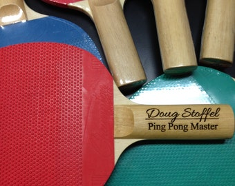 Custom Engraved Ping Pong Paddle - Free Shipping!