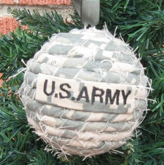 U S Army Ornament Military Christmas Gift ACU by GreenSkyGifts