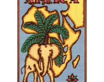 AFRICA - Handmade Leather Travel Photo Album - Color