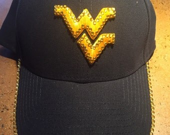 WVU blinged hat