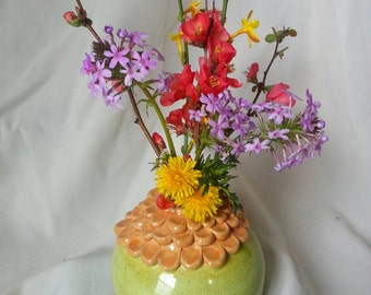Hand-Thrown Pottery Vase, Made in Oklahoma