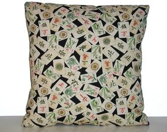 Maj Jong (Black) - Accent Pillow