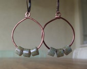 Picasso Tile Glass Beads on Wire Earrings