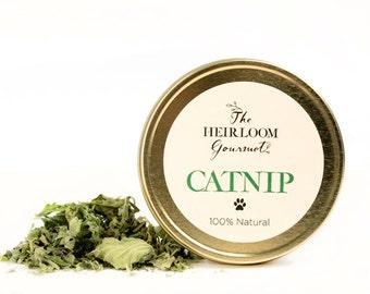 Gourmet Catnip // All Natural // New Hampshire Home Grown // 4 oz Tin
