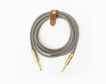 Concrete Stone Cement Gray Beige 9.5' Cable Axis Guitar Instrument Cable Handmade Lead Cord Mogami