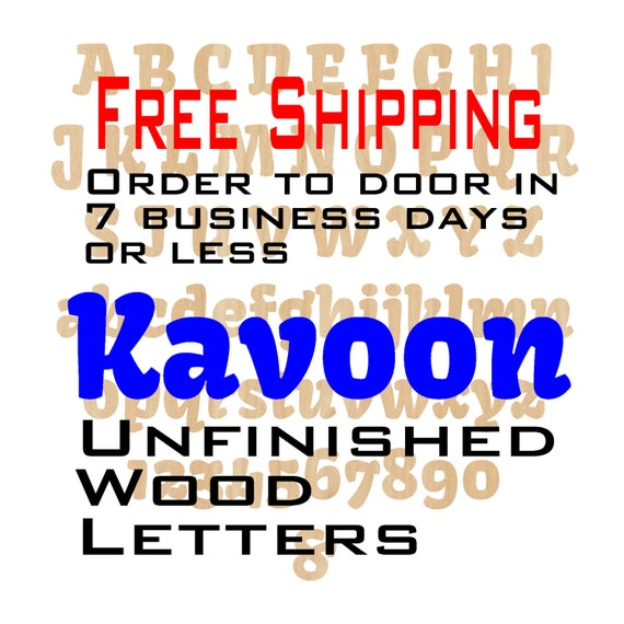Unfinished Wood Letters Numbers, Free Shipping, Kavoon, Wood Craft, laser cut wood, &, birch, wooden, wall, DIY, Wedding