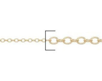 1.6mm Gold Filled Cable Chain - (10 feet)