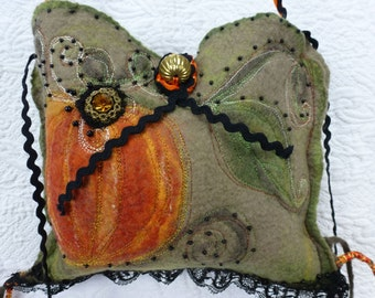 Little Cinderella ,Clutch Bag, purse, embroidered ,pure merino wool felt, beads , shiny son and embellished with lace and crystal, Unique,
