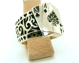 159.00 Ace over Ace Mens Poker ring