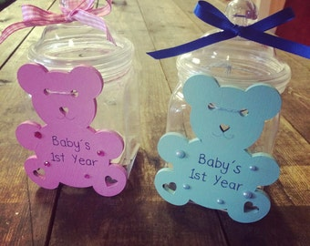 Baby's first year memory jar