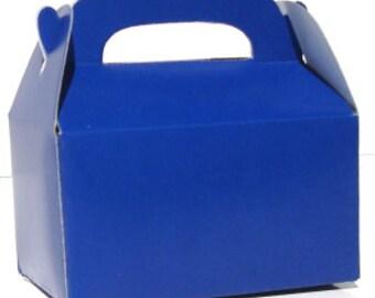 Blue favor box, blue gable box, party favor, candy box, - wedding favor, shower favor, birthday favor, sports favor, kid party favor