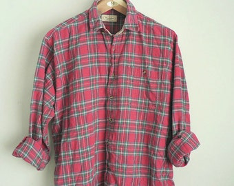 Popular Items For Pink Flannel Shirt On Etsy