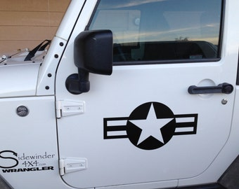AIRFORCE STAR Vinyl Vehicle jeep Decal WWI WW2 Free Shipping!