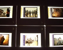 FULL METAL JACKET Lot Sheet of 20 Slide Mounted Movie Film Cells - Genuine Collectible Gift - get some!