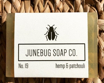 3 PACK: Hemp & Patchouli Bar Soap - Patchouli Soap, Hemp Soap, Natural Soap, Handmade Soap, Bar Soap, Herbal Soap, Vegan Soap, 3 Pack Soap
