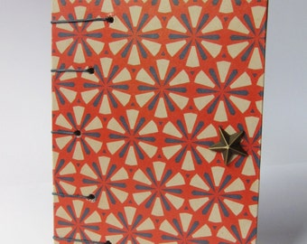 COPTIC BOUND journal /notebook.red/blu retrò paper.COPTIC book