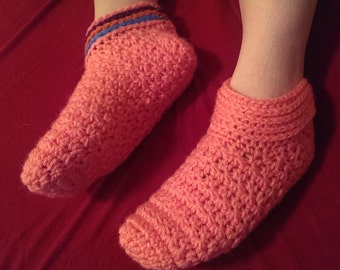 Womens slippers/ solid or rainbow cuff/ any colors