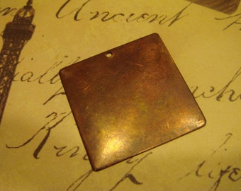 antiqued brass blank pendant 10 pc