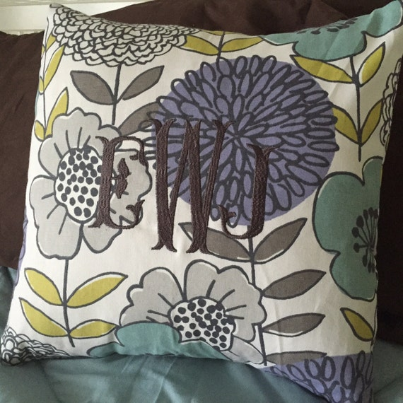 Monogrammed Throw PIllow Cover by HighCottonMonogram on Etsy