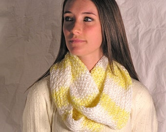 Yellow and White Stripe Scarf