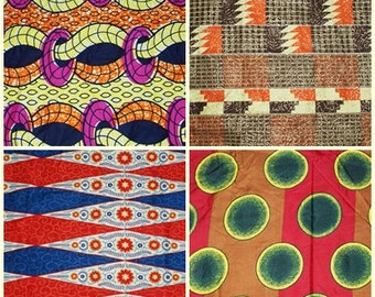 4 Fat Quarters. African Fabric