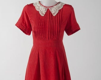 Victorian Peter Pan Lace Collars with Pleated Bodice and Sleeves [TWO COLOUR OPTIONS]