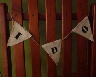 I DO wedding banner ~rustic~ handmade
