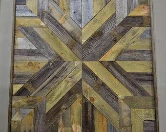 Reclaimed wood quilt - wood wall art