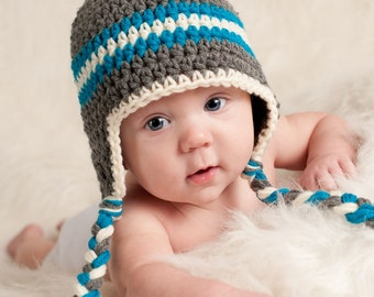 Newborn Hat, Crochet Baby Hat, Baby Hats for Boys, Baby Boy Hat, Baby Boy, Newborn Baby Hat, Newborn Photo Prop, Baby Boy Ear Flap Hat