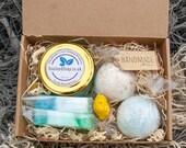 Spa Bath Gift Set - Pampering, Valentines, birhday, for him, handmade, luxury, occasion