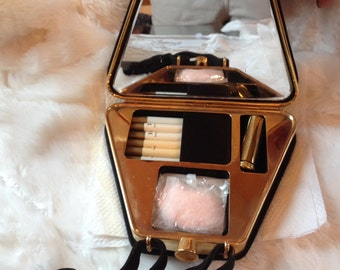 RARE 50's Triangular Cigarette Evening Bag with Unused Accessories Inside ~ New Old Stock!