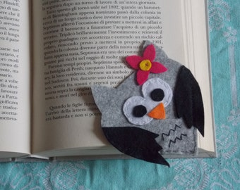 Bookmark funny felt OWL-shaped Funny Owl bookmarks in felt