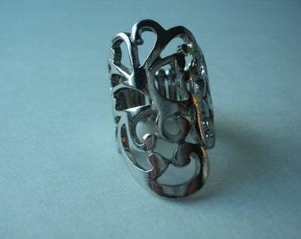 Gothic Vine/Flower Pinky Ring