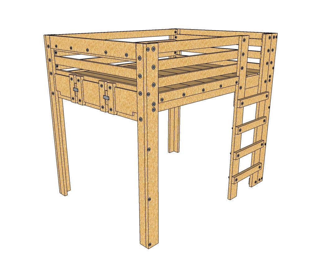 Queen loft bed plans Loft bed plans
