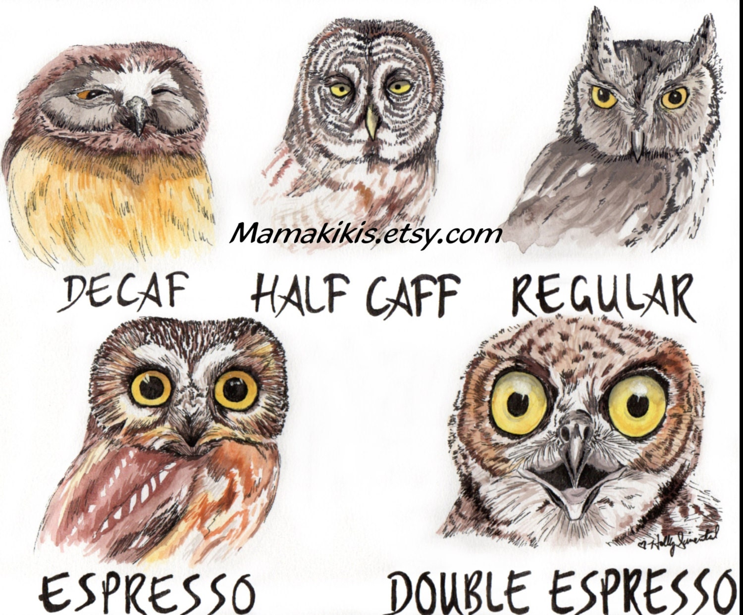 funny owl drawing - photo #24