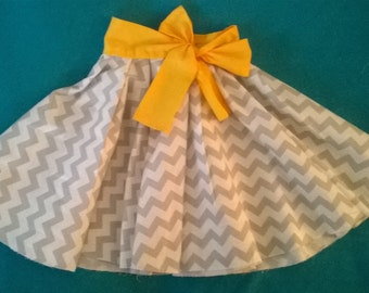 Pleated Circle Skirt with Bow