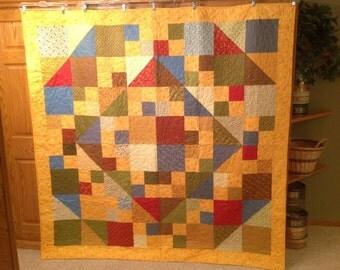 Twin or Throw Hopscotch Handmade Quilt