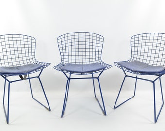 Original Bertoia set of 3 Blue Chairs