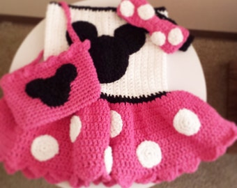 Crochet Minnie Mouse dress