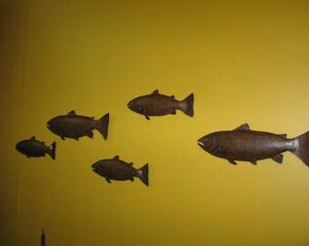 Pair of Metal Fish Wall Decor