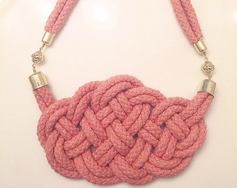 Knotted Peach Necklace