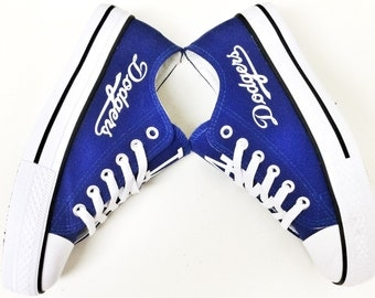 Custom LA DODGERS Women's & Men's Low Tops Canvas Tennis Shoes