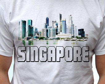 Singapore - new white holiday t shirt country print design 100% cotton - Mens, womens, kids & baby clothing - all sizes!