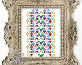 Abstract Print Hexagon Print Digital Print Abstract Art Geometric Print Art Modern Art Contemporary Art Wall Decor : A0279