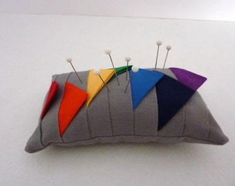Modern Rainbow Pincushion