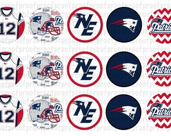 New England Patriots Inspired Bottle Cap Images