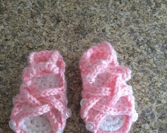 Baby Button Gladiator Sandals!!