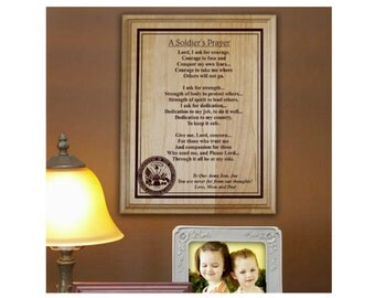 Soldiers Prayer Personalized Wood Plaque