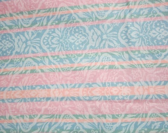 summer print on cotton fabric